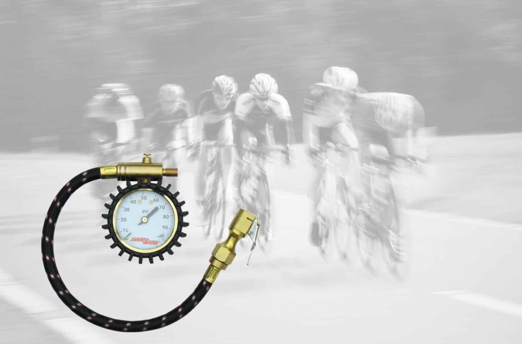 däcktrycksmätare och landsvägscyklister
