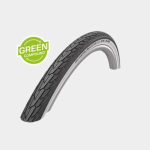 Däck Schwalbe Road Cruiser Green Compound K-Guard Whitewall 47-507 (24 x 1.75)