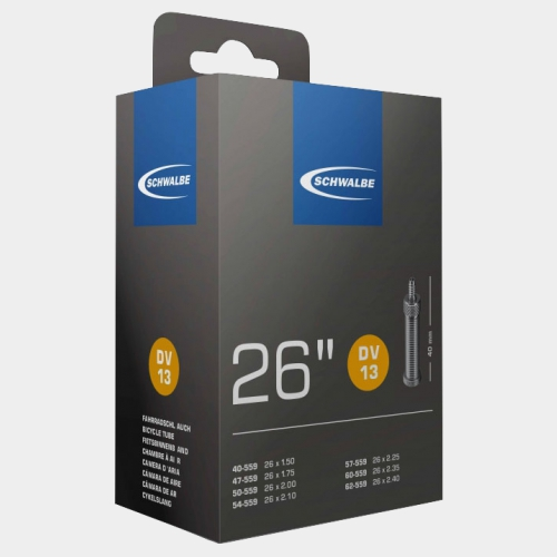 Slang Schwalbe DV13 40/62-559 cykelventil 40 mm (miljöslang, utan förpackning)