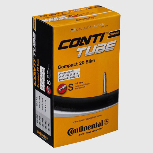 "Slang Continental Compact Slim 20"" 28/32-406 28/32-451 racerventil 42 mm"