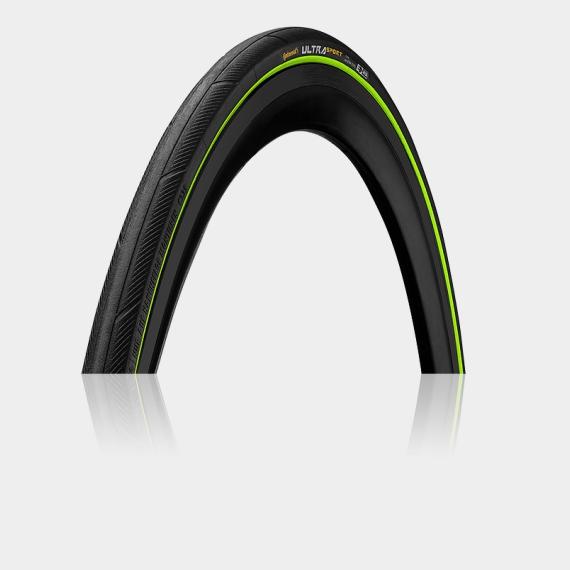 Däck Continental Ultra Sport III Performance 23-622 (700 x 23C / 28 x 0.90) vikbart svart/grön