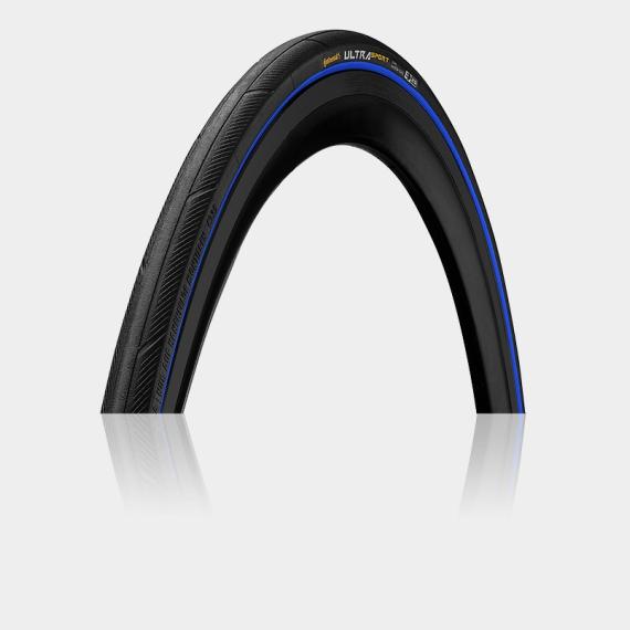 Däck Continental Ultra Sport III Performance 23-622 (700 x 23C / 28 x 0.90) vikbart svart/blå