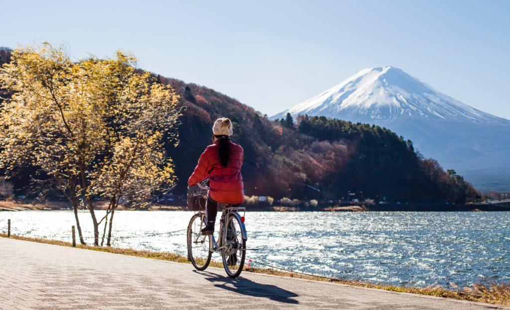 cykling vid strand