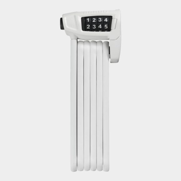 Vikbart lås ABUS Bordo Combo Lite 6150, 85 cm, vit, inkl. fäste (SH)