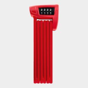 Vikbart lås ABUS Bordo Combo Lite 6150, 85 cm, röd, inkl. fäste (SH)