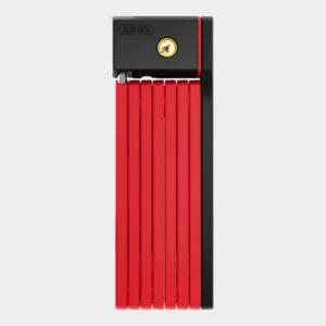 Vikbart lås ABUS uGrip Bordo 5700, 100 cm, röd, inkl. fäste (SH)