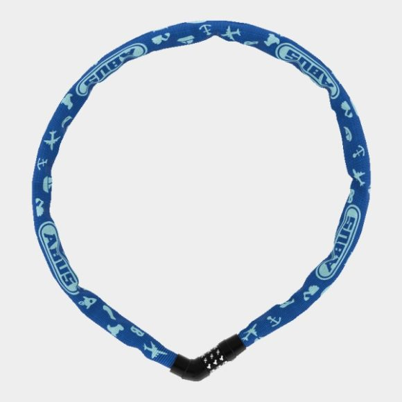 Kättinglås ABUS Steel-O-Chain 4804C, 75 cm, Ø4 mm, Blue Symbols