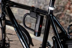Bygellås Trelock U5 Mini Flex, 178 mm, inkl. fäste + Låsvajer Trelock Flex, 120 cm