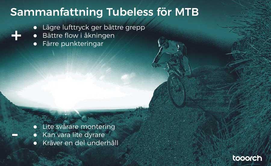 sammanfattning tubeless och slanglöst för MTB