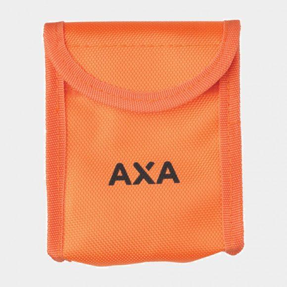Skivbromslås AXA Pro Block + Skivbromslåsvajer AXA Reminder Cable, 9 cm, Ø2 mm + Väska