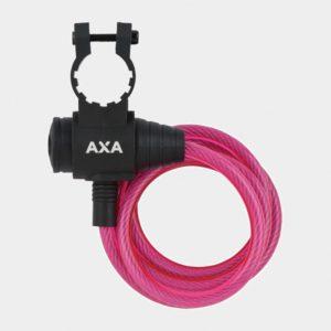 Spirallås AXA Zipp, 120 cm, Ø8 mm, blå, inkl. fäste