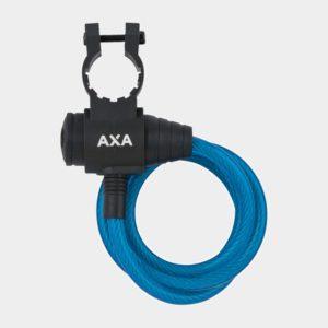 Spirallås AXA Zipp, 120 cm, Ø8 mm, grön, inkl. fäste
