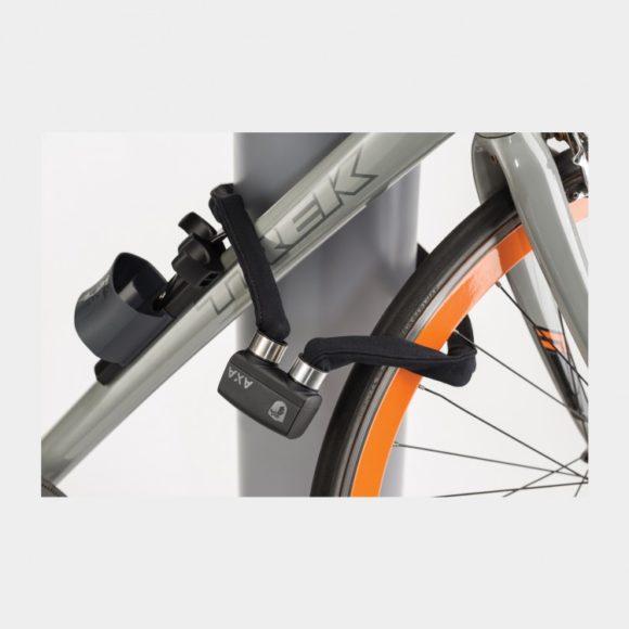 Vikbart lås AXA Foldable 800, 100 cm, grå, inkl. fäste