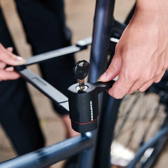 Vikbart lås Trelock FS 480 Cops, 100 cm, inkl. hållare