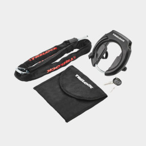 Ramlås Trelock RS 351 AZ, Protect-O-Connect + Ramlåskätting Plug-in Trelock ZR 355, 100 cm,  Ø5.5 mm + väska