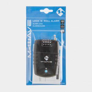 Vajerlås med larm M-Wave Lock 'N 'Roll Alarm, 60 cm, Ø2 mm