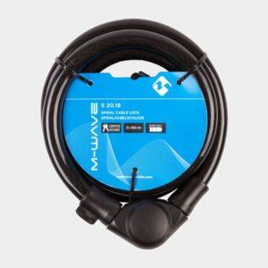 Spirallås M-Wave S 20.18, 180 cm, Ø20 mm, inkl. fäste
