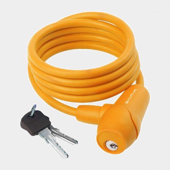 Spirallås M-Wave S 8.15 S, 150 cm, Ø8 mm, orange