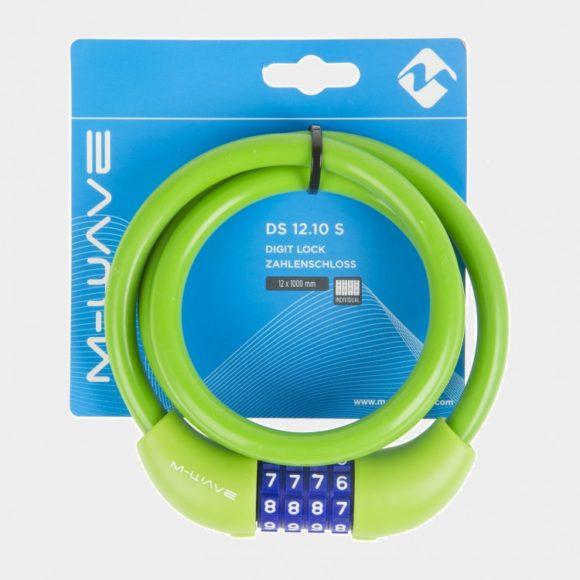 Spirallås M-Wave DS 12.10 S, 100 cm, Ø12 mm, grön