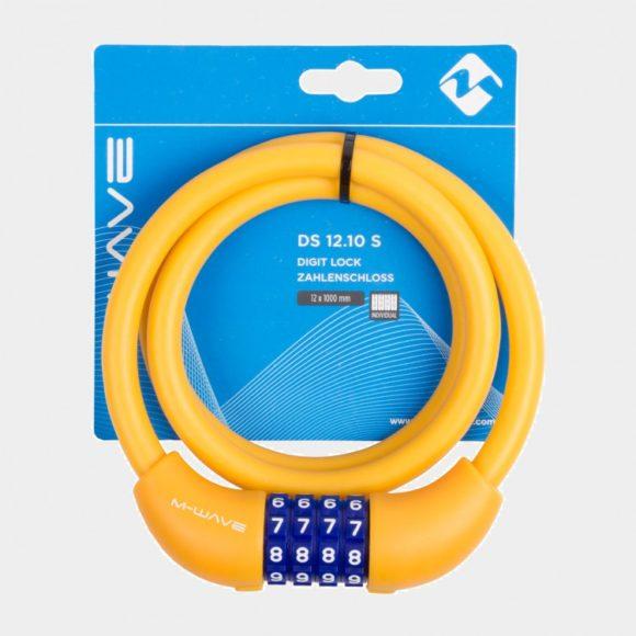 Spirallås M-Wave DS 12.10 S, 100 cm, Ø12 mm, orange