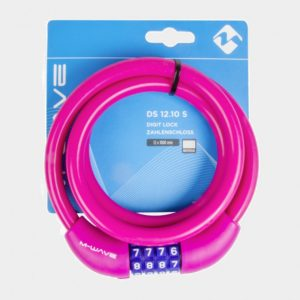 Spirallås M-Wave DS 12.10 S, 100 cm, Ø12 mm, rosa