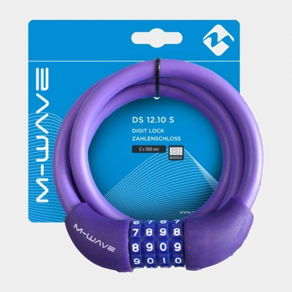 Spirallås M-Wave DS 12.10 S, 100 cm, Ø12 mm, lila