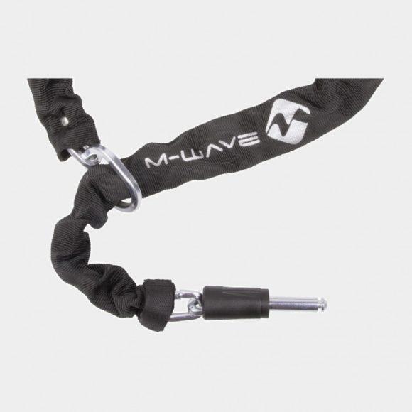 Ramlås M-Wave Ringchain XL + Ramlåskätting M-Wave, 100 cm, Ø5.5 mm