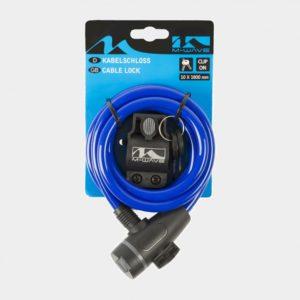Spirallås M-Wave S 10.18, 180 cm, Ø10 mm, blå, inkl. fäste