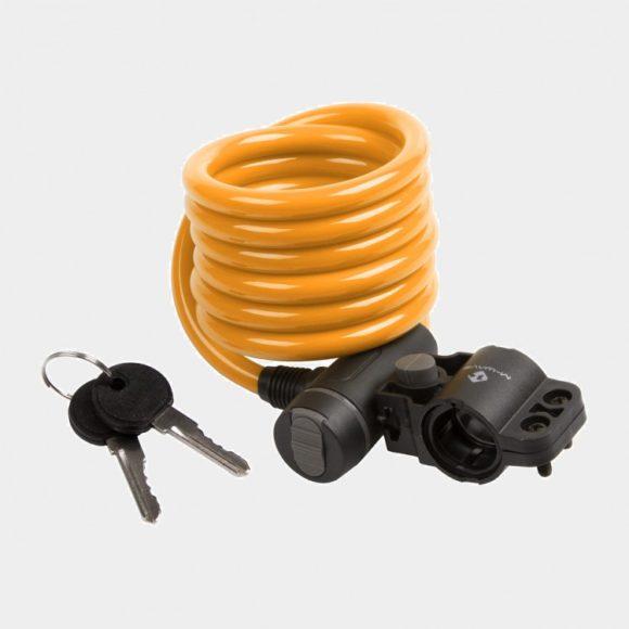 Spirallås M-Wave S 10.18, 180 cm, Ø10 mm, orange, inkl. fäste