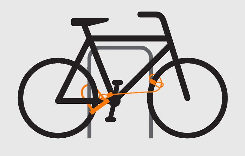cykel låst med bygellås