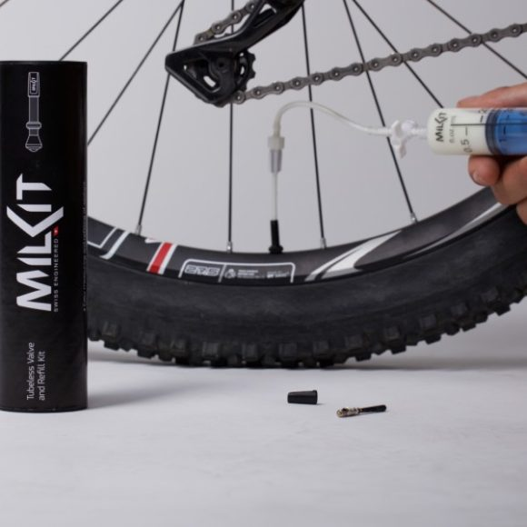 Tubelessventilkit milKit Compact, 75 mm, aluminium