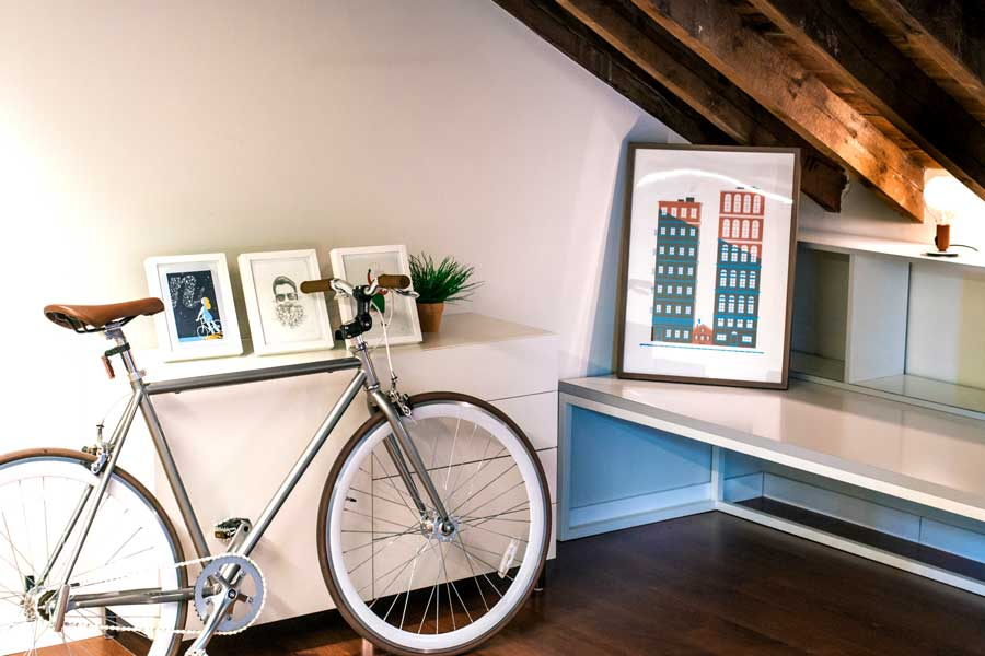 cykel på kontoret