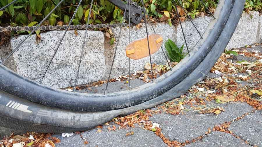 Punktering på cykeldäck