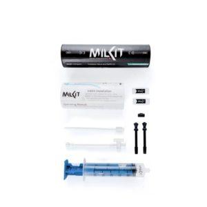 Tubelessventilkit milKit Compact, 55 mm, aluminium