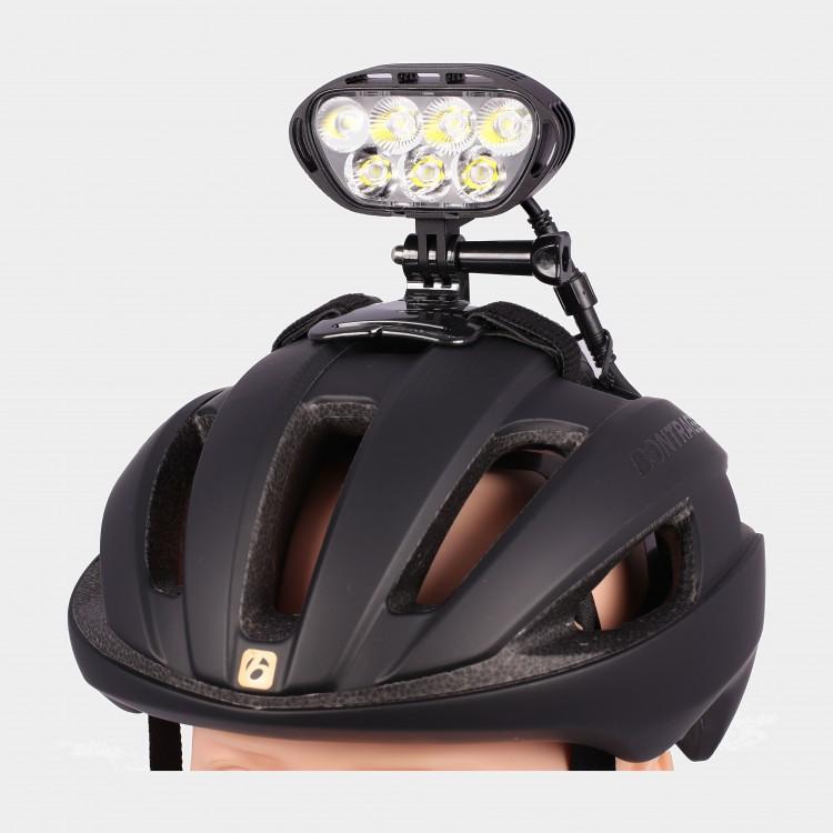 Lampset mtb hjälmlampa m-tiger superion ii plus + pannband + styrfäste