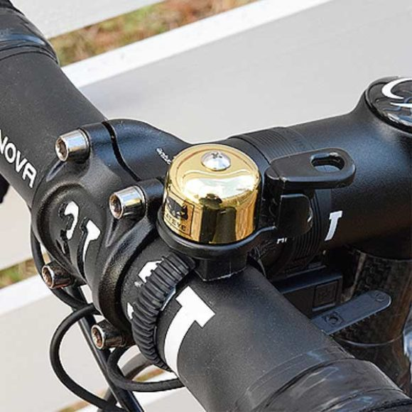 Ringklocka CatEye OH-2400, Ø23 mm, mässing, guld