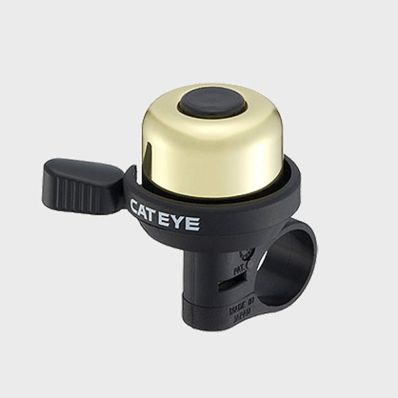 Ringklocka CatEye PB-1000P, Ø33 mm, mässing, guld