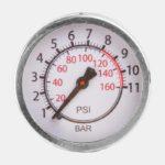 Fotpump Ventura 8/116, med analog tryckmätare (manometer)