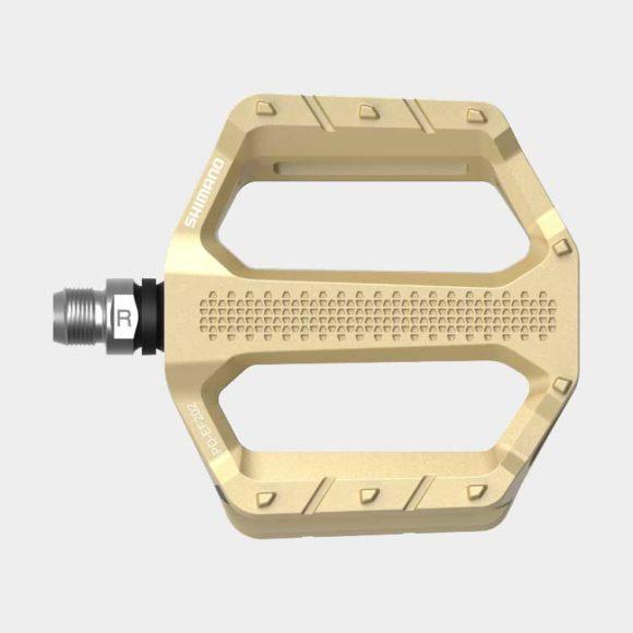 Pedaler Shimano EF202, 1 par, Plattformspedaler, guld
