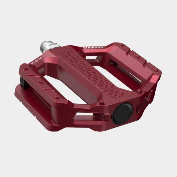 Pedaler Shimano EF202, 1 par, Plattformspedaler, röd