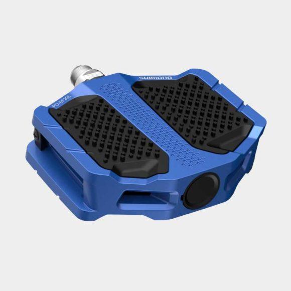 Pedaler Shimano EF205, 1 par, Plattformspedaler, blå