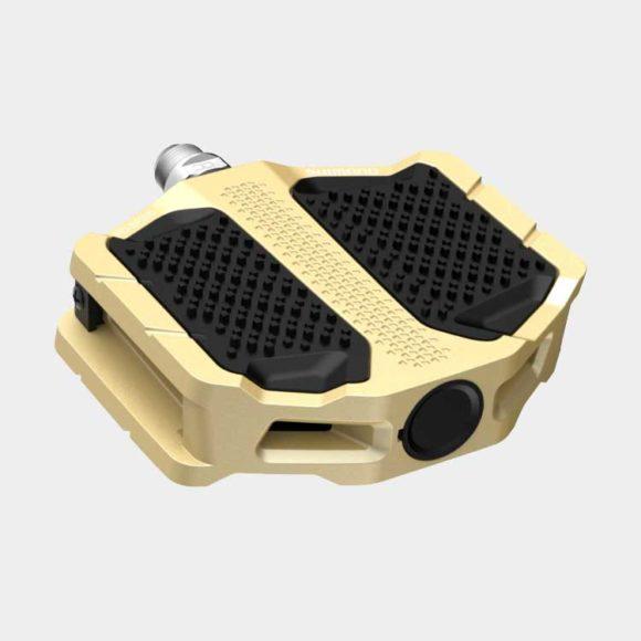 Pedaler Shimano EF205, 1 par, Plattformspedaler, guld