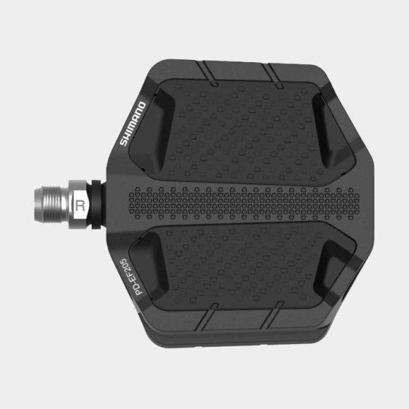 Pedaler Shimano EF205, 1 par, Plattformspedal, svart