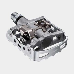 Pedaler Shimano M324, 1 par, Kombipedal, silver, inkl. klossar