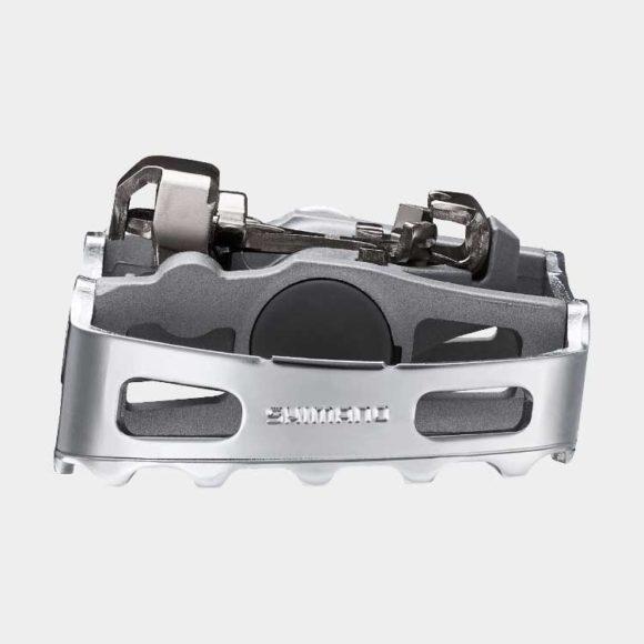 Pedaler Shimano M324, 1 par, Kombipedaler, silver, inkl. klossar