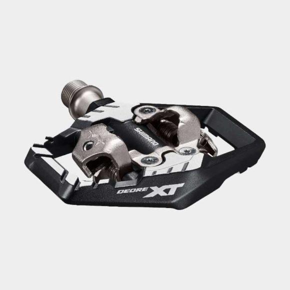 Pedaler Shimano XT M8120, 1 par, SPD, inkl. klossar