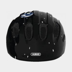Cykelhjälm ABUS Smiley 2.0 Black Space, grönt spänne, Small (45 - 50 cm)