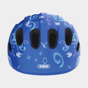 Cykelhjälm ABUS Smiley 2.0 Blue Sharky, grönt spänne, Small (45 - 50 cm)