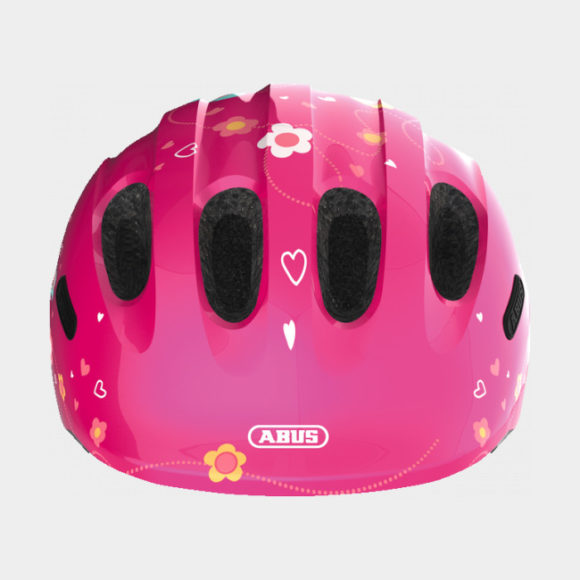 Cykelhjälm ABUS Smiley 2.0 Pink Butterfly, grönt spänne, Small (45 - 50 cm)