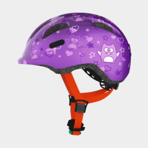 Cykelhjälm ABUS Smiley 2.0 Purple Star, grönt spänne, Small (45 - 50 cm)